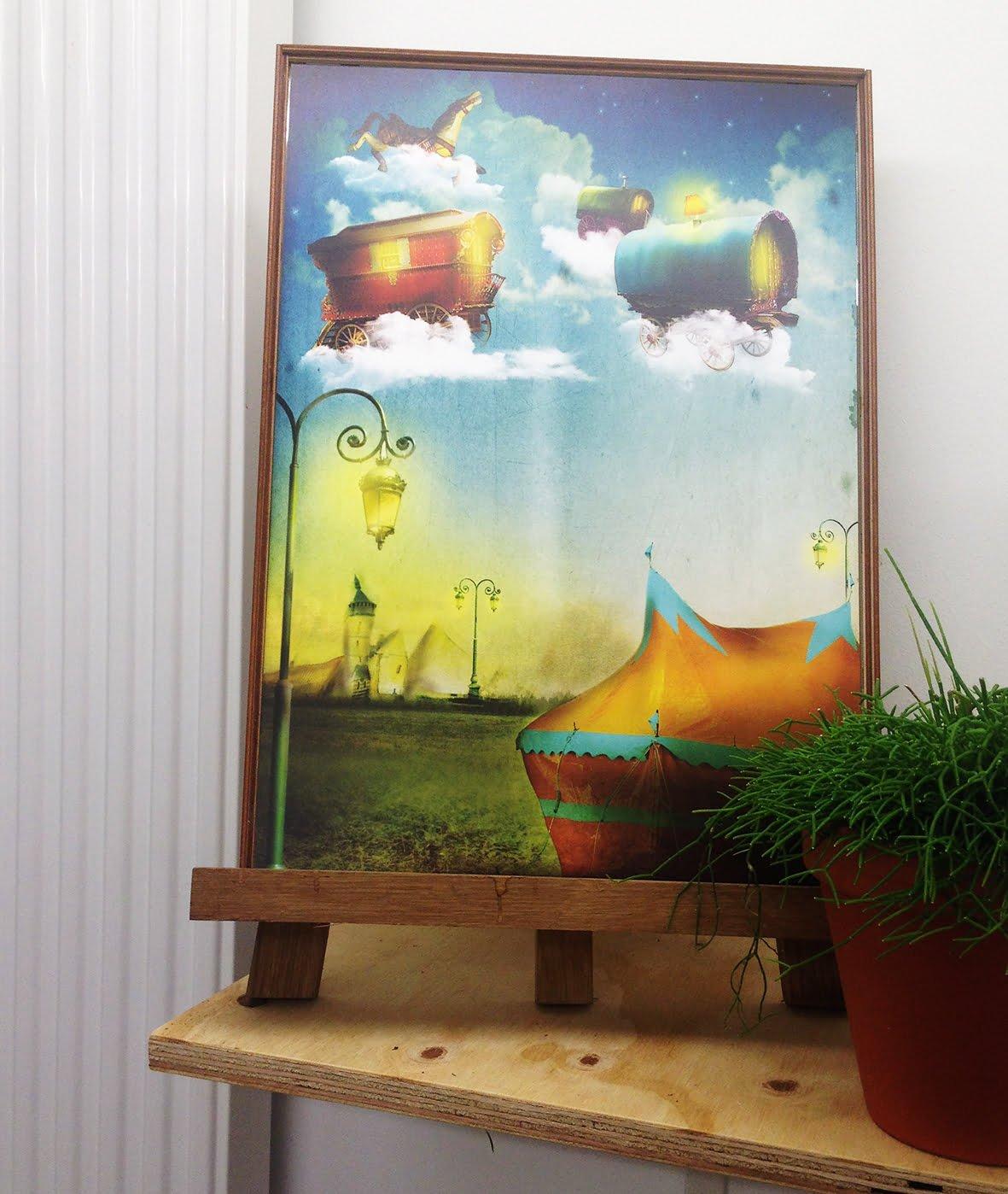 Illustratie Poster Vliegend Cirkus | tekening | sfeervol | sprookje