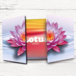 Geboortekaartje_op_maat lotusbloem