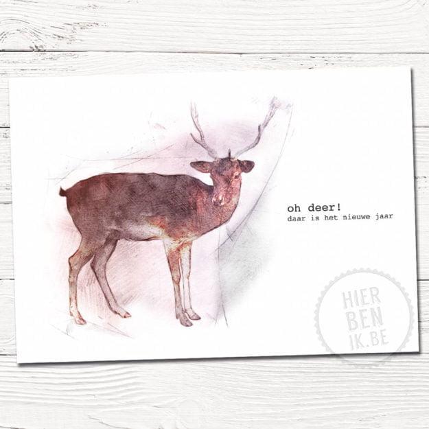 Leuke kerstkaarten   hert   Indie   foto   tekenen   dieren   gezin   grafisch   design   xmas   cards